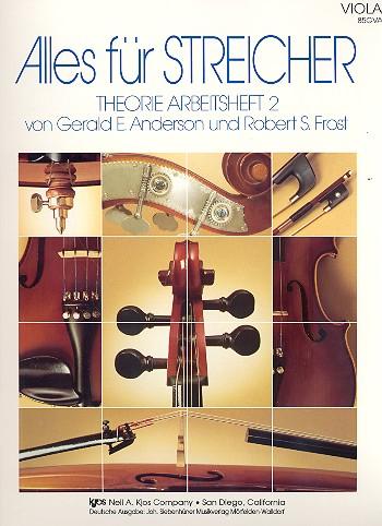 Alles für Streicher Band 2: Theorie Arbeitsheft Viola