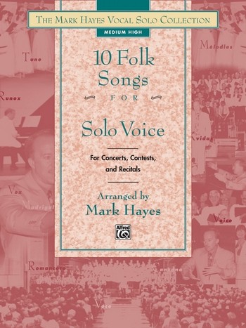 10 Folk Songs: for medium low voice and piano