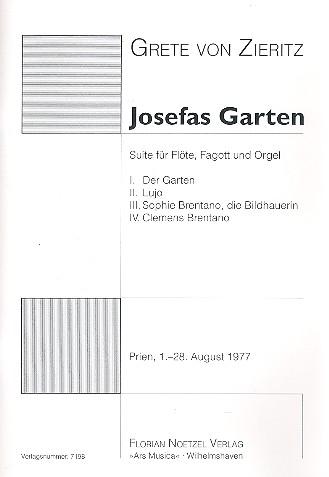 Josefas Garten: für Flöte, Fagott und Orgel