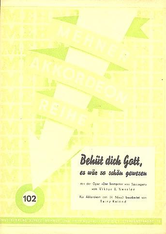 Nessler, Viktor Ernst - Behüt dich Gott es wär so schön gewesen :