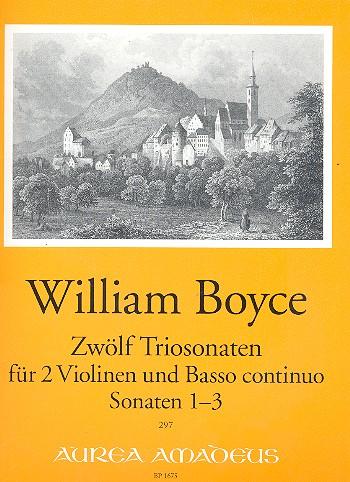 12 Sonaten Band 1 (Nr.1-3): für 2 Violinen und Bc