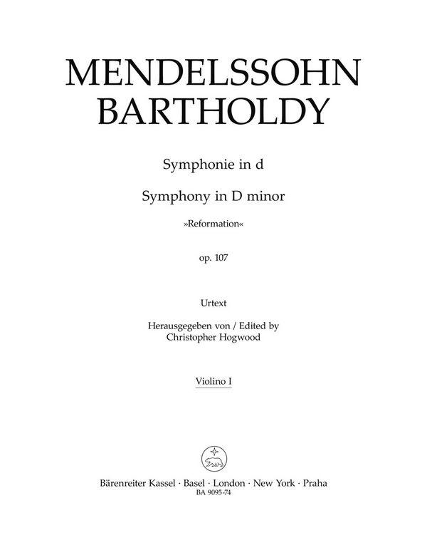 Sinfonie d-Moll Nr.5 opus.107: für Orchester