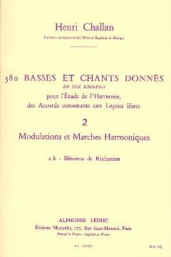 380 basses et chants donnés vol.2b: Modulations et marches harmoniques -