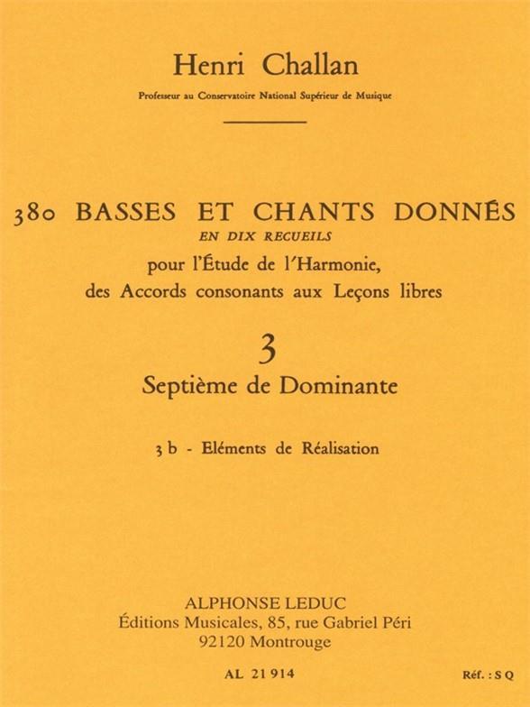 380 basses et chants donnés vol.3b: Septième de Dominante - éléments