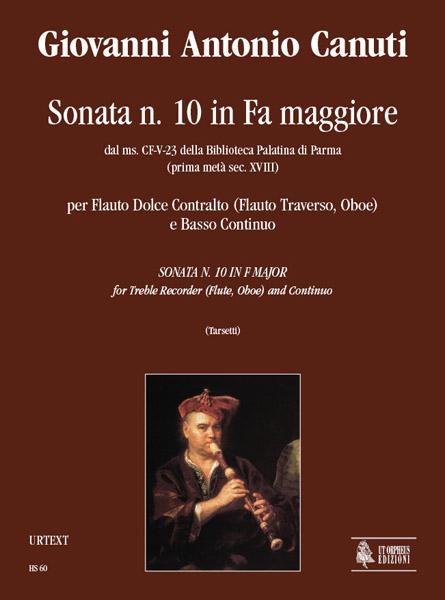 Sonata No. 10 Fa-maggiore: per flauto dolce contralto (flauto traverso, oboe)