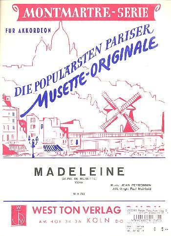Madeleine: für Akkordeon
