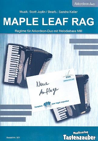 Maple Leaf Rag: für 2 Akkordeons mit Melodiebass (MIII)