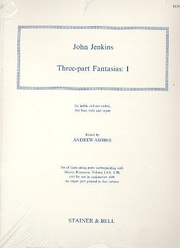 3-Part Fantasias vol.1: for treble viol (violin), 2 bass viols and organ