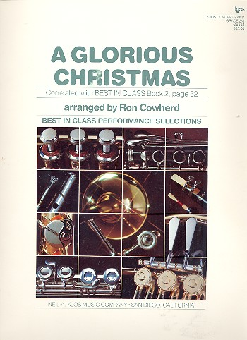 A glorious Christmas: for concert band score and parts