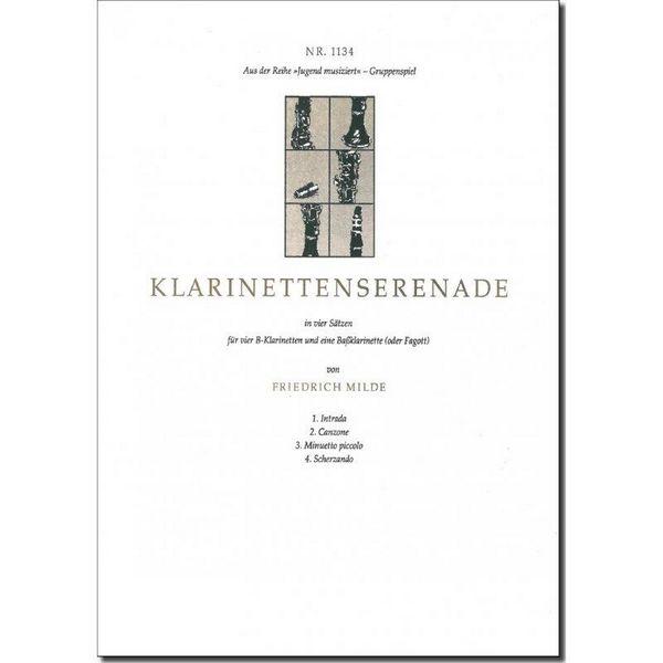 Milde, Friedrich - Klarinettenserenade : für 4 Klarinetten