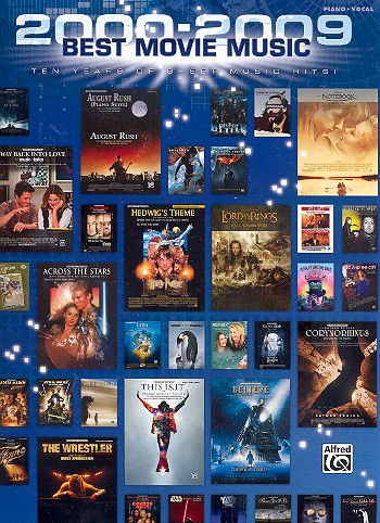 Best Movie Music 2000-2009 songbook piano/vocal/guitar