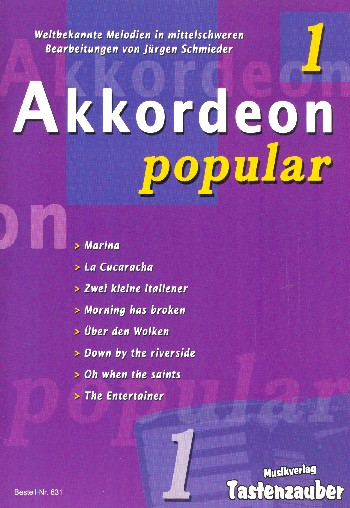 Akkordeon popular Band 1: für Akkordeon (mit Text und Akkorden)