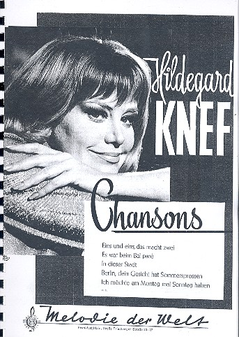 Hildegard Knef: Chansons Songbook Klavier/Gesang/Gitarre