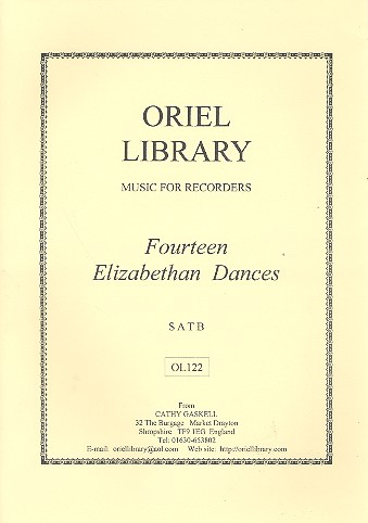 14 Elizabethan Dances . for 4 recorders (SATB)
