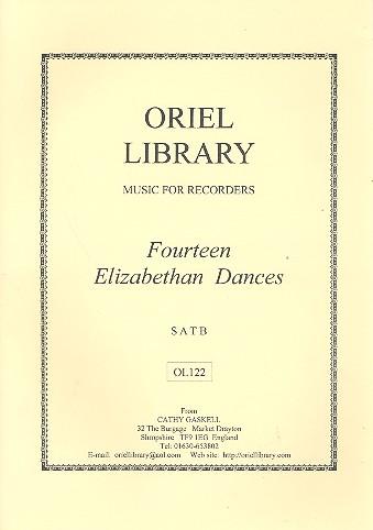 14 Elizabethan Dances . for 4 recorders (SATB)