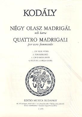 4 Madrigali: per coro femminile a cappella partitura
