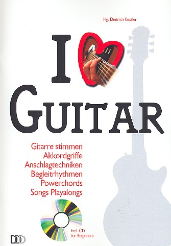 I love Guitar (+CD): for guitar (with lyrics)