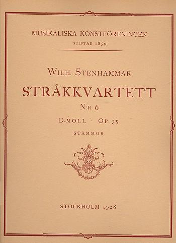 Stenhammar, Wilhelm - String Quartet d minor no.6 op.35
