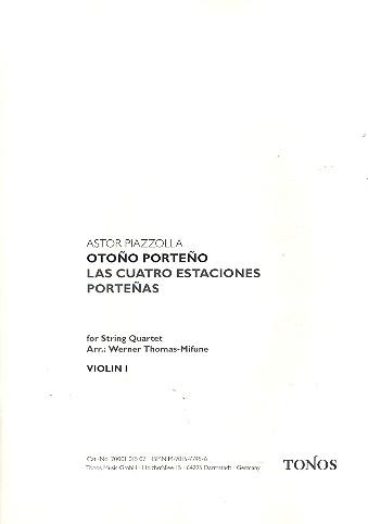 Piazzolla, Astor - Otono porteno : für Streichquartette