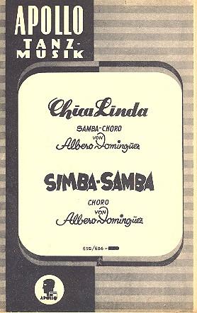 Chica linda und Simba Samba: für Salonorchester