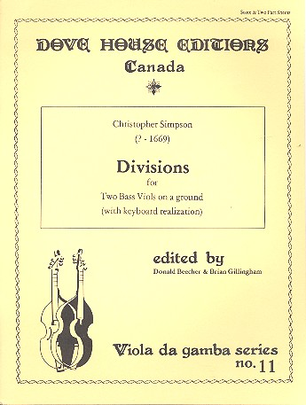 Divions on a Ground : for 2 bass viols and keyboard