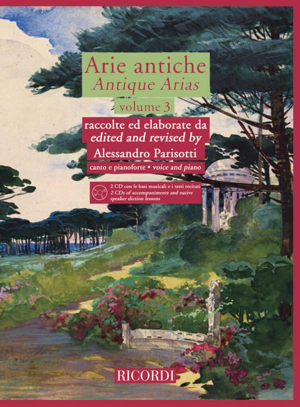 - Arie antiche vol.3 (+2 CD's) : for voice