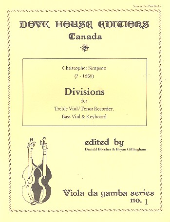 Divisions: for treble viol (tenor recorder), bass viol and keyboard