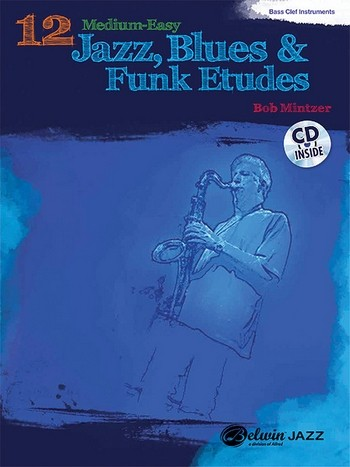 12 medium-easy Jazz, Blues and Funk Studies (+CD): for bass clef instruments