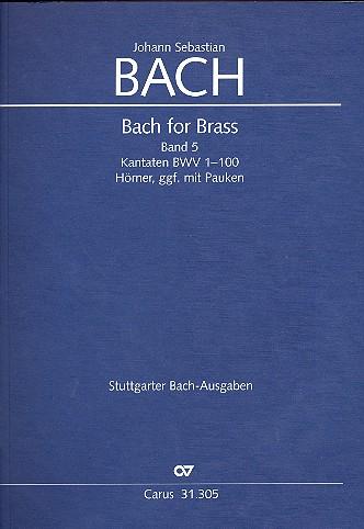 Bach for Brass Band 5: Hörnerpartien in Stimmenpartitur,
