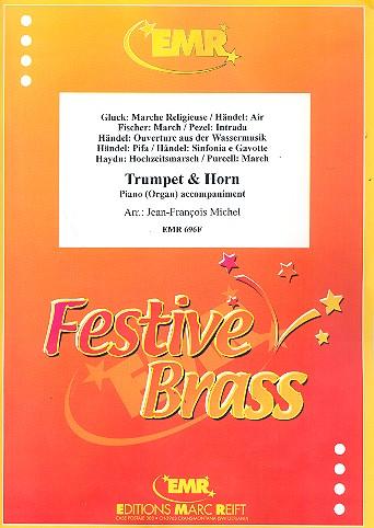 9 Stücke: für Trompete, Horn und klavier (Orgel)