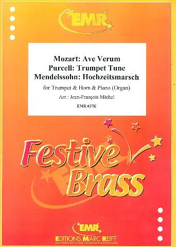 3 Stücke: für Trompete, Horn und Klavier (Orgel)