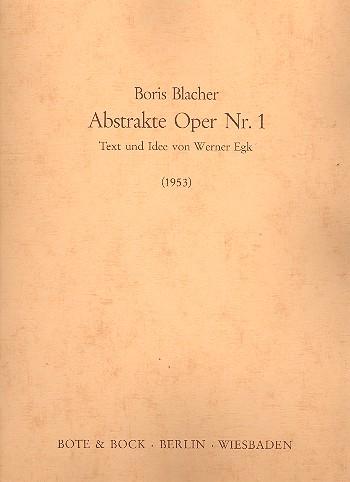 Abstrakte Oper Nr.1 Klavierauszug