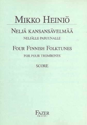 4 Finnish Folk Tunes: for 4 trombones score and parts