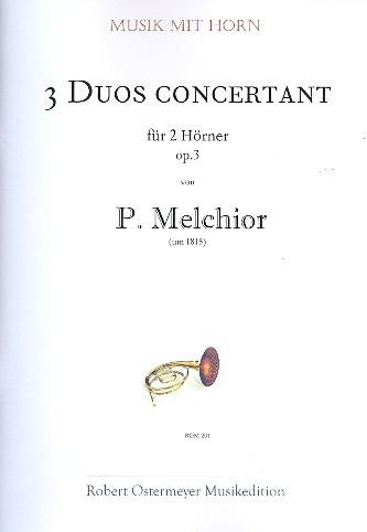 3 Duos concertants op.3: für 2 Hörner Partitur