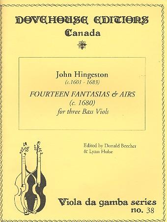 14 Fantasias and Airs: for 3 bass viols score and parts