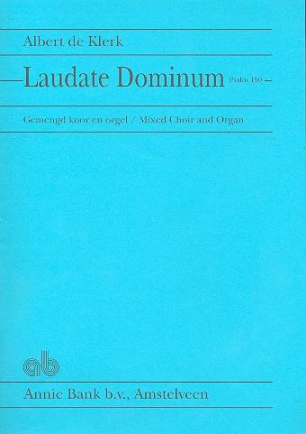 Laudate Dominum: für gem Chor und Orgel Partitur