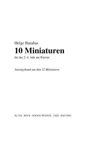 10 Miniaturen: für Klavier