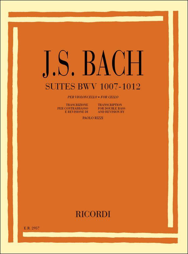 Bach, Johann Sebastian - Suiten BWV1007-1012 : für Kontrabass