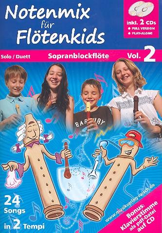 - Notenmix für Flötenkids Band 2 (+2 CD's) :