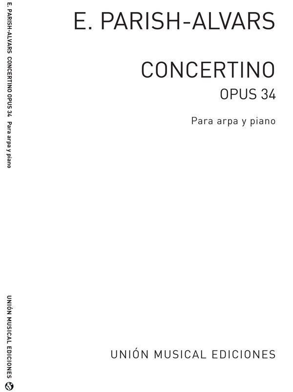 Concertino op.34: for harp and piano