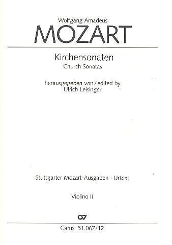 Sämtliche Kirchensonaten: für 2 Violinen und Bc