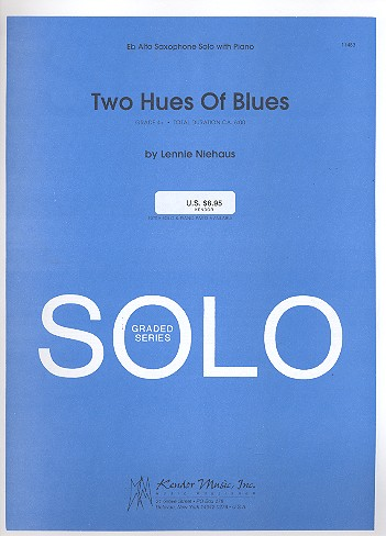 2 Hues of Blues: for alto saxophone and piano