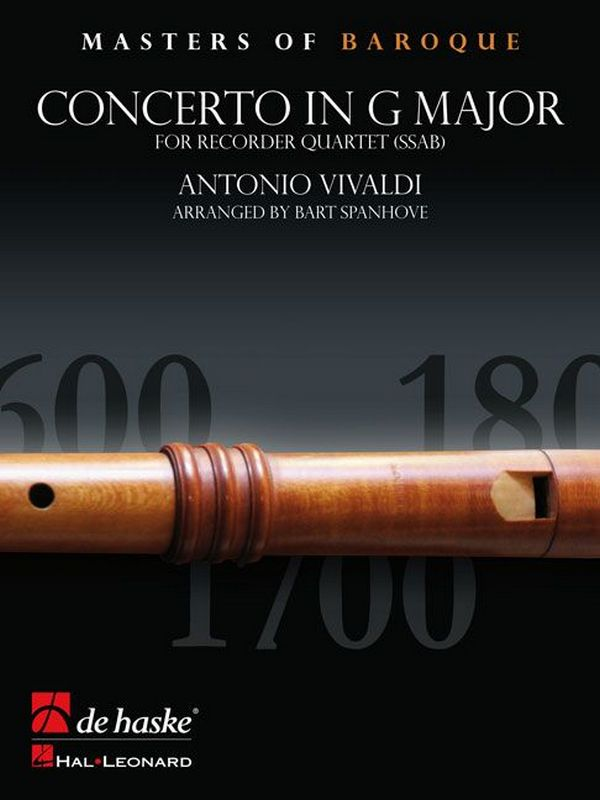 Concerto in G Major opus.4,5: for 4 recorders (SSAB)