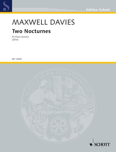 2 Nocturnes: for violin, viola, cello and piano