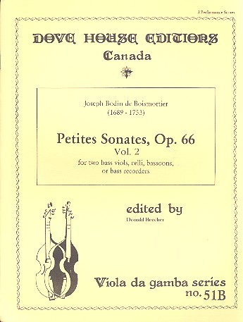 Petites Sonates opus.66 vol.2: for 2 bass viols, celli, bassoons or