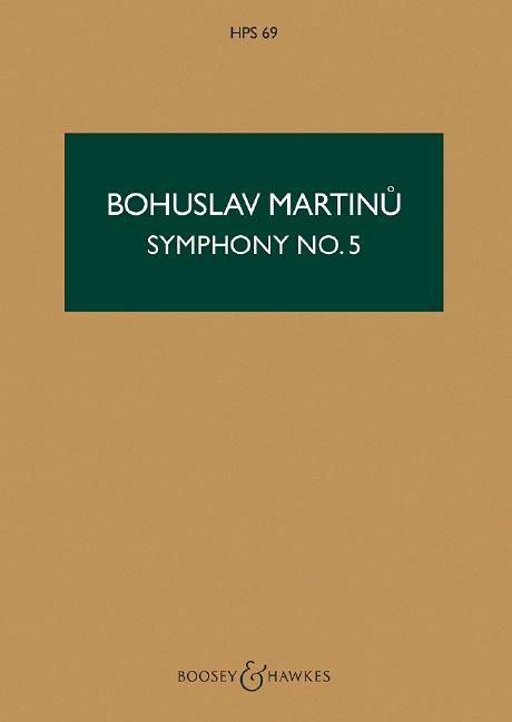 Sinfonie Nr.5: für Orchester Studienpartitur