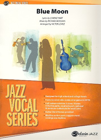 Blue Moon: for solo voice (instrument) and jazz ensemble