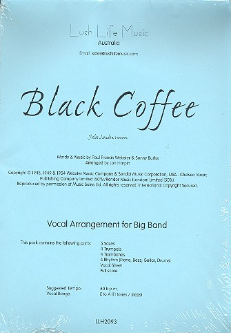 Black Coffee: Vocal Arrangement for Big Band