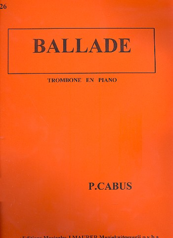 Ballade: for trombone and piano