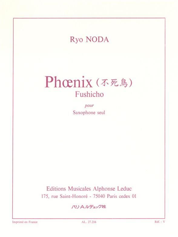 Noda, Ryo - Phoenix : für Saxophon